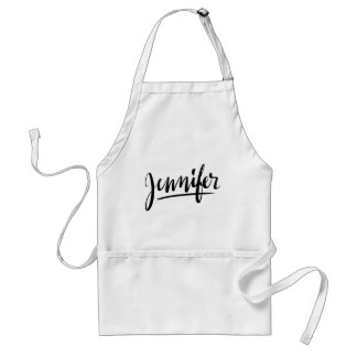 Personalized gift kitchen apron with name Jennifer