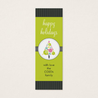 PERSONALIZED GIFT TAG :: modern spotty tree AP3 Mini Business Card