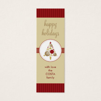 PERSONALIZED GIFT TAG :: modern spotty tree AP4