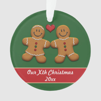 Personalized Gingerbread Couple Acrylic Ornament