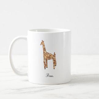 Personalized Giraffe Mug