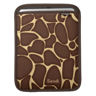 Personalized Giraffe Pattern Custom iPad Sleeve