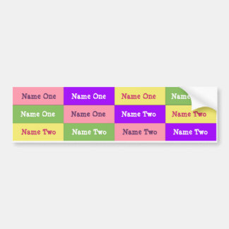 Personalized Girl Name Labels; Waterproof Stickers Bumper Sticker