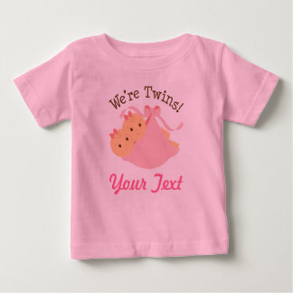 Personalized Girl Twins Baby T-Shirt