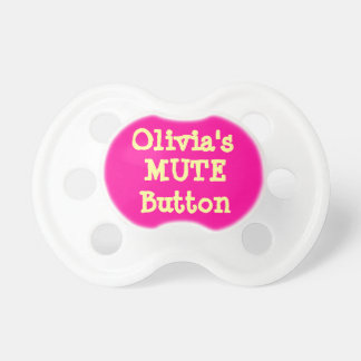 Personalized Girl's Baby Pacifier