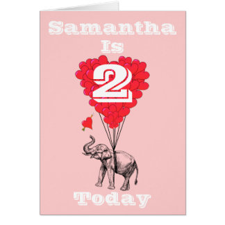 Personalized girls Birthday Note Card