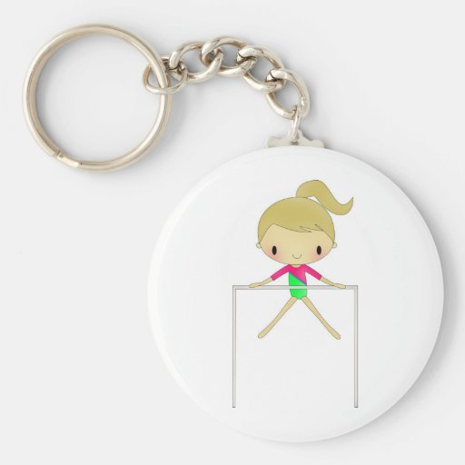 Personalized Girls Gymnastic apparel & accessories Keychain
