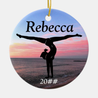 PERSONALIZED GIRLS GYMNASTIC ORNAMENT