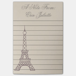 Personalized Girl's Paris Eiffel Tower Gift Post-it® Notes