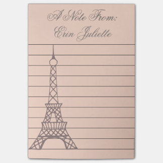 Personalized Girl's Post It Note Eiffel Tower Gift Post-it® Notes