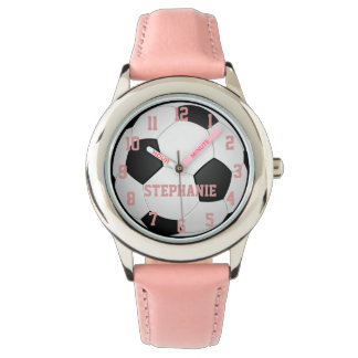 Personalized Girl's Soccer Ball Watch