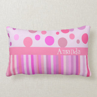 Personalized girls's room pillow throw cushion