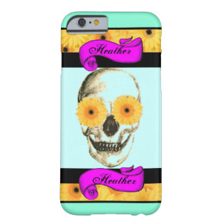 Personalized Girly Skull Barely There iPhone 6 Case