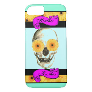 Personalized Girly Skull iPhone 7 Case