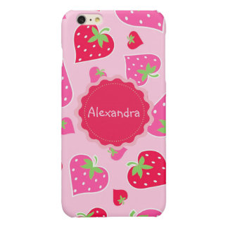 Personalized Girly strawberry hearts for lovers
