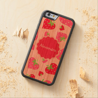 Personalized Girly strawberry hearts for lovers Cherry iPhone 6 Bumper