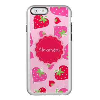 Personalized Girly strawberry hearts for lovers Incipio Feather® Shine iPhone 6 Case