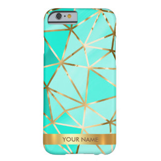 Personalized Glam Shiny Green Diamond Vip Gold Barely There iPhone 6 Case