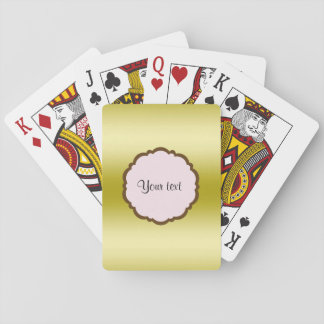 Personalized Glamorous Gold Playing Cards
