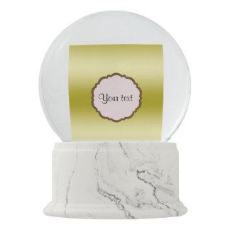 Personalized Glamorous Gold Snow Globe