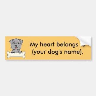 Personalized Glen of Imaal Terrier Bumper Sticker