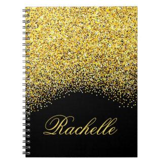 Personalized Glitter Notebooks