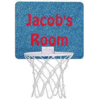 Personalized Glittery Blue Mini Basketball Goal Mini Basketball Hoop