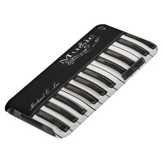 Personalized Glossy Piano Keys iPod Case-Mate Cases