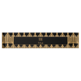 Personalized Gold and Black Art Deco Pattern Name Plate