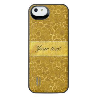 Personalized Gold Foil Giraffe Skin Pattern iPhone SE/5/5s Battery Case