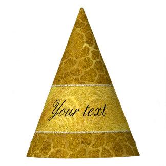 Personalized Gold Foil Giraffe Skin Pattern Party Hat