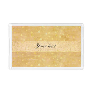 Personalized Gold Foil Stars Watercolor