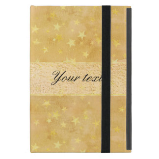 Personalized Gold Foil Stars Watercolor Cover For iPad Mini