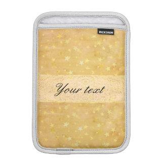 Personalized Gold Foil Stars Watercolor iPad Mini Sleeve