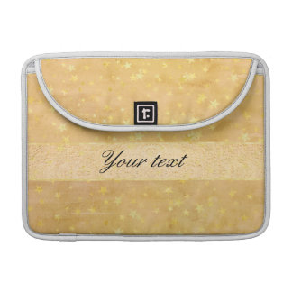 Personalized Gold Foil Stars Watercolor Sleeve For MacBook Pro