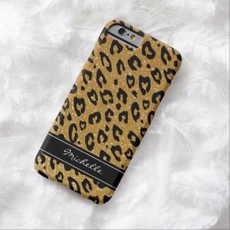 Personalized gold glitter leopard iPhone 6 case