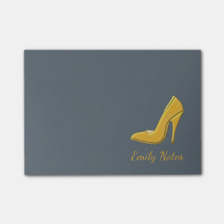 Personalized Gold high heel shoe Post-it Notes