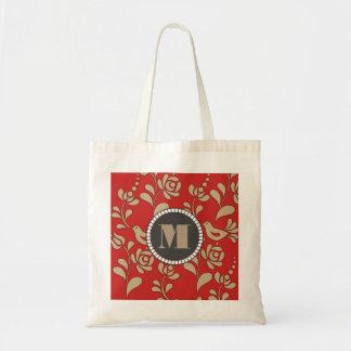 Personalized Gold Hungarian Folk Art Tote Bag