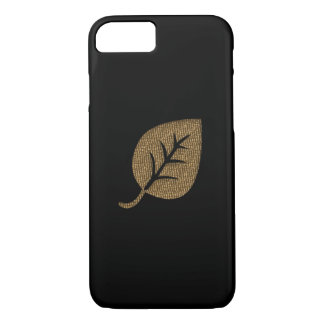 Personalized Gold Leaf Black iPhone 7 Case