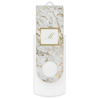 personalized gold marble usb flash swivel USB 3.0 flash drive