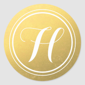 Personalized Gold Monogram Stickers