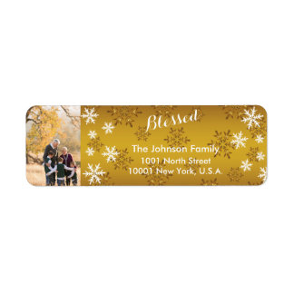 Personalized Golden Blessed Return Address Labels