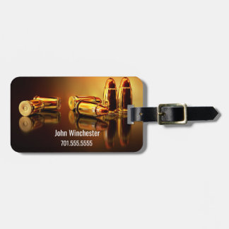 Personalized Golden Cartidges Luggage Tag