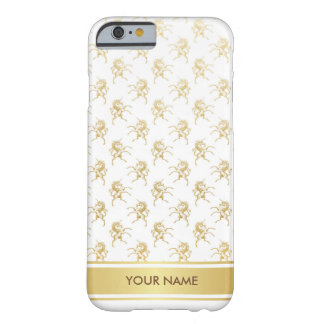 Personalized Golden Unicorn Glam White Case