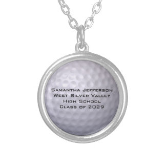 Personalized Golf Ball Sports Pendant Necklac