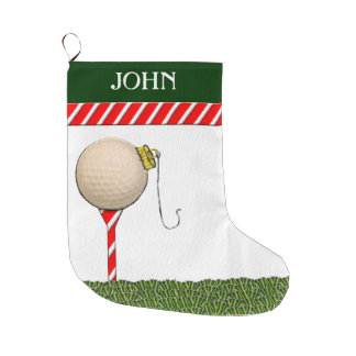 Personalized Golf Christmas Gifts Large Christmas Stocking
