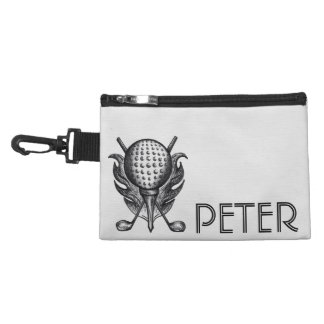 Personalized Golf Course Ball Tee Club Custom Gift Accessory Bag