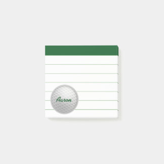 Personalized Golf Golfing Post It Notes Gift