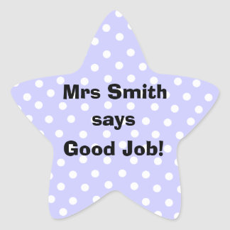 Personalized Good Job Teacher stickers