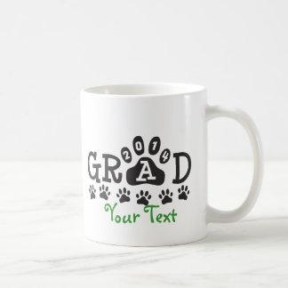Personalized GRAD 2014 PAWS GREEN Graduation Coffee Mug